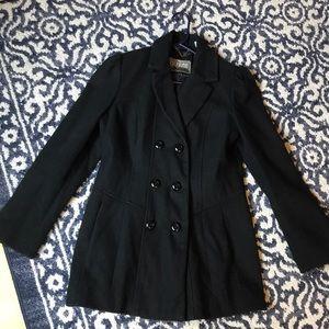 Black Guess pea coat
